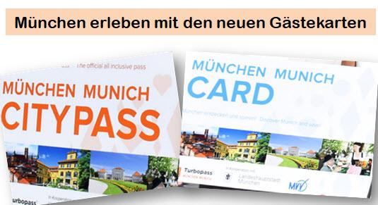 München Card und München City Pass