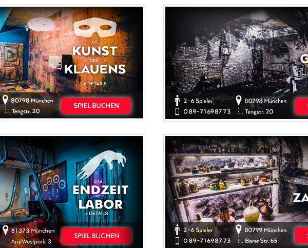 Escape Rooms in München  für Abenteuerlustige